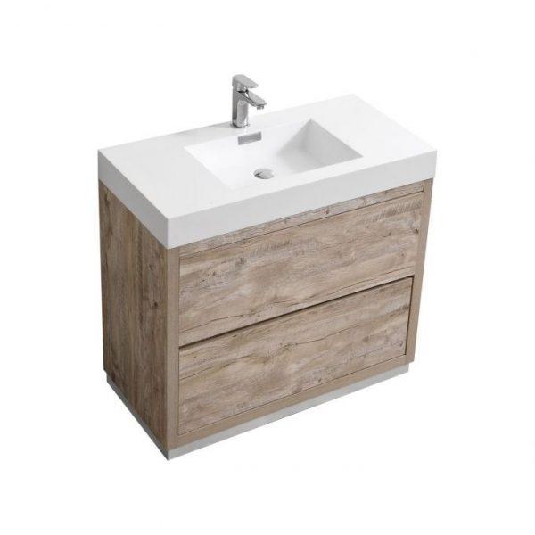 Bliss 36 Nature Wood Free Standing Modern Bathroom Vanity Bathmiami